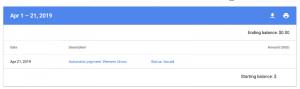 Status pembayaran google adsense issued