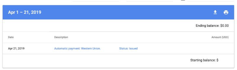 Pembayaran dari Google Adsense