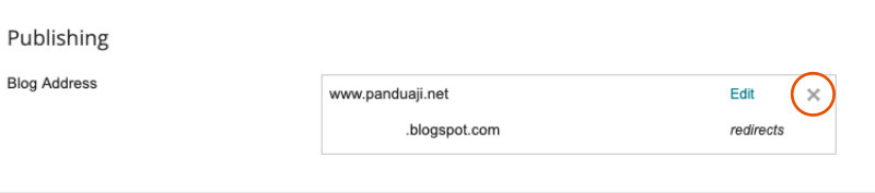 batalkan redirect blogspot ke domain