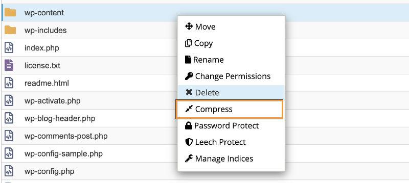 backup wp-contoent wordpress