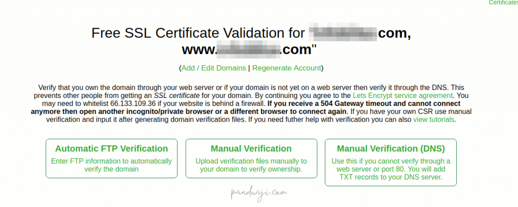 Verifikasi Domain SSL