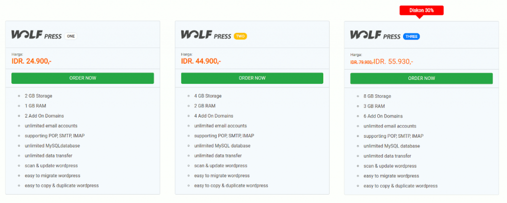 Masterweb WordPress Hosting di Indonesia
