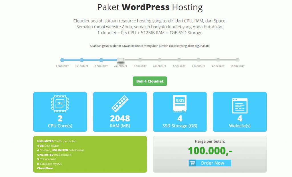 Wordpress Hosting di Rumahweb