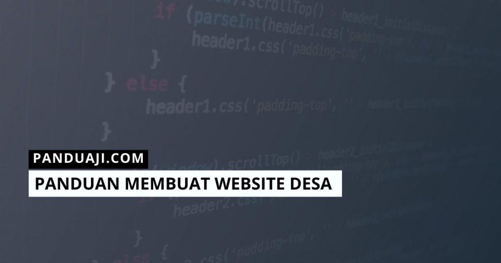 Panduan Membuat Web Desa