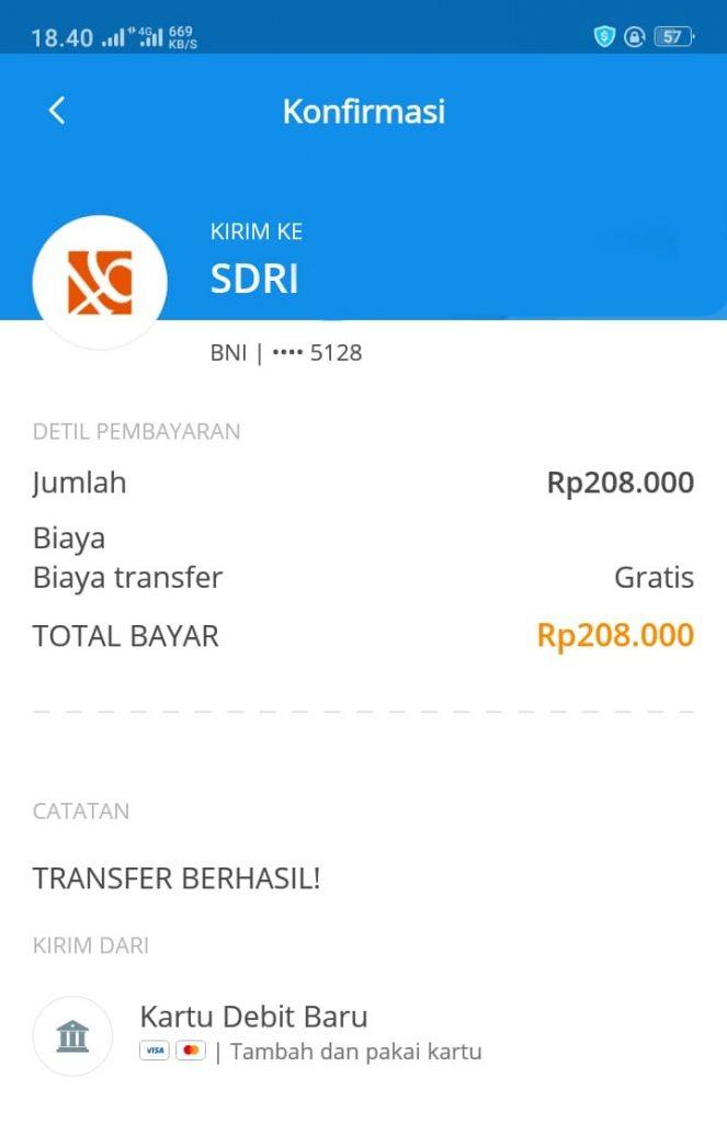 Screenshot Palsu Transfer