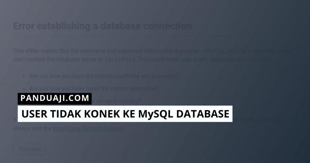 MySQL Tidak Konek