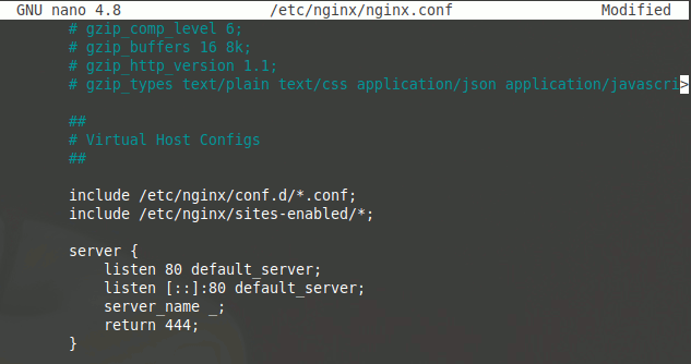 Settings Nginx