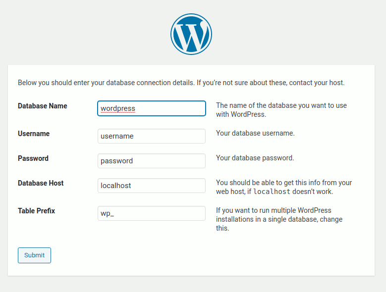 Setting WordPress
