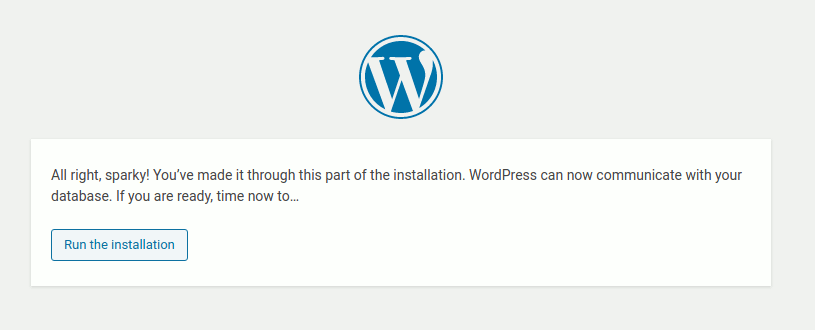 Proses instalasi wordpress