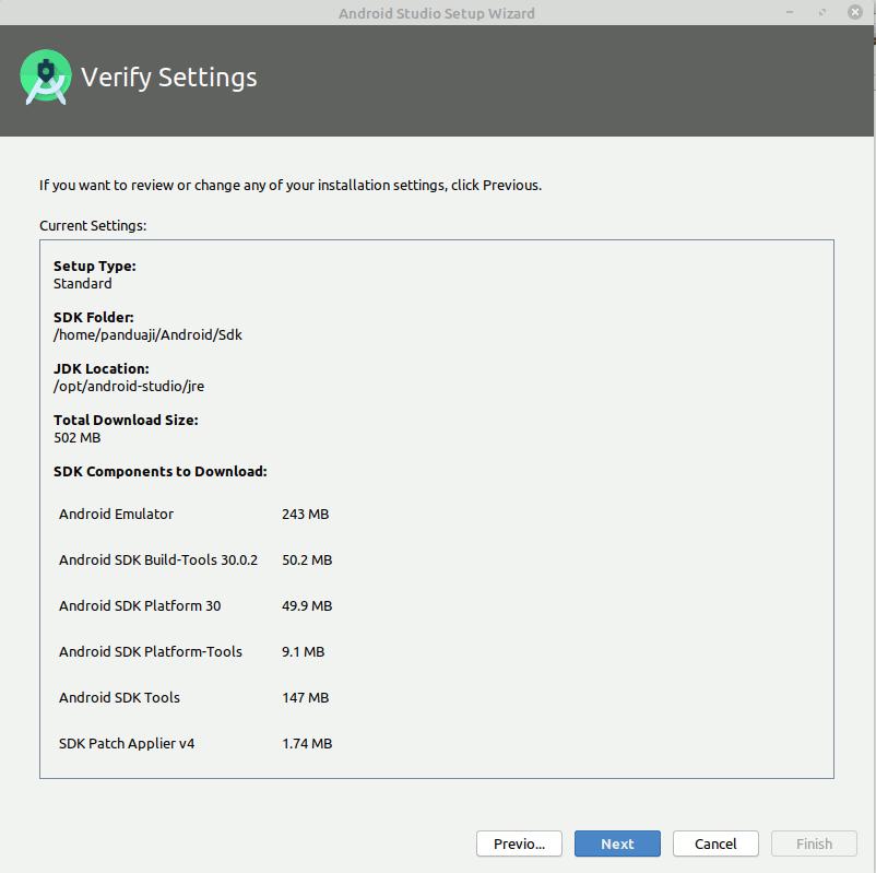 Download SDK Android Studio