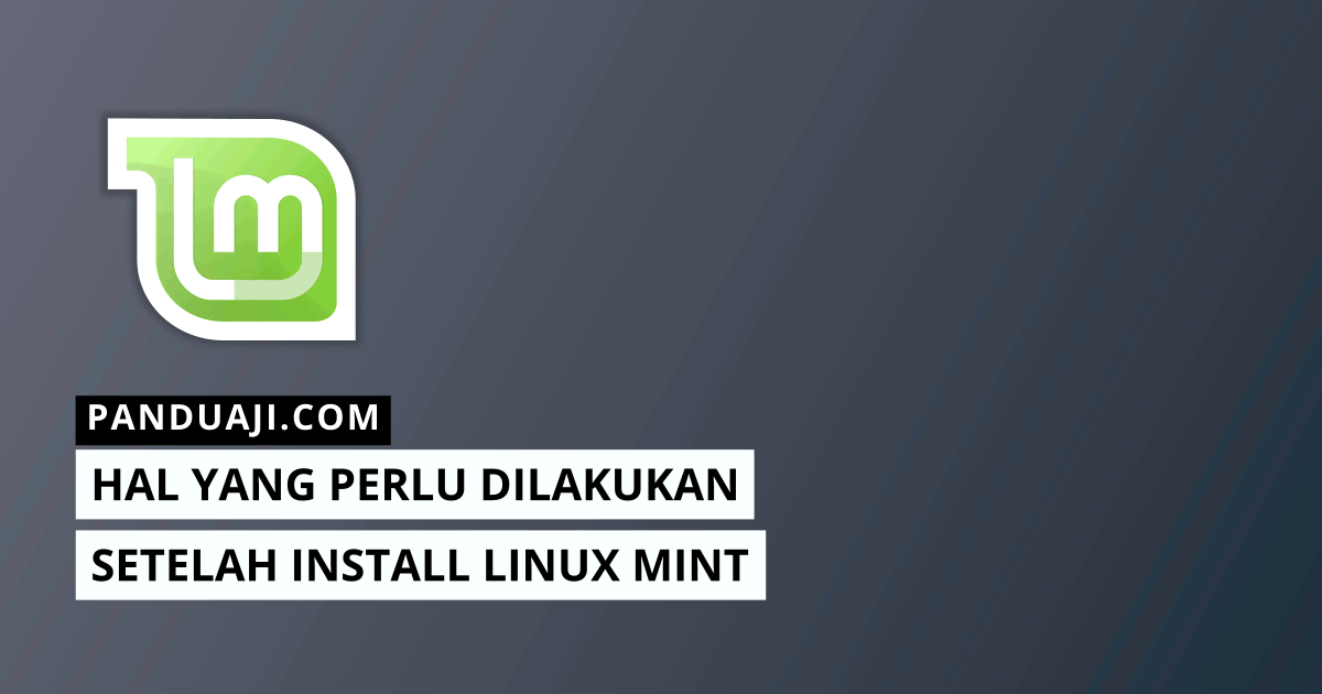 Setelah Install Linux Mint