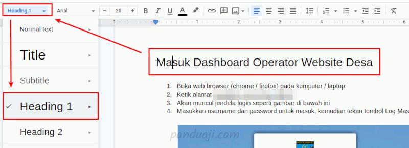 Cara Membuat Daftar Isi Otomatis di Google Docs 1