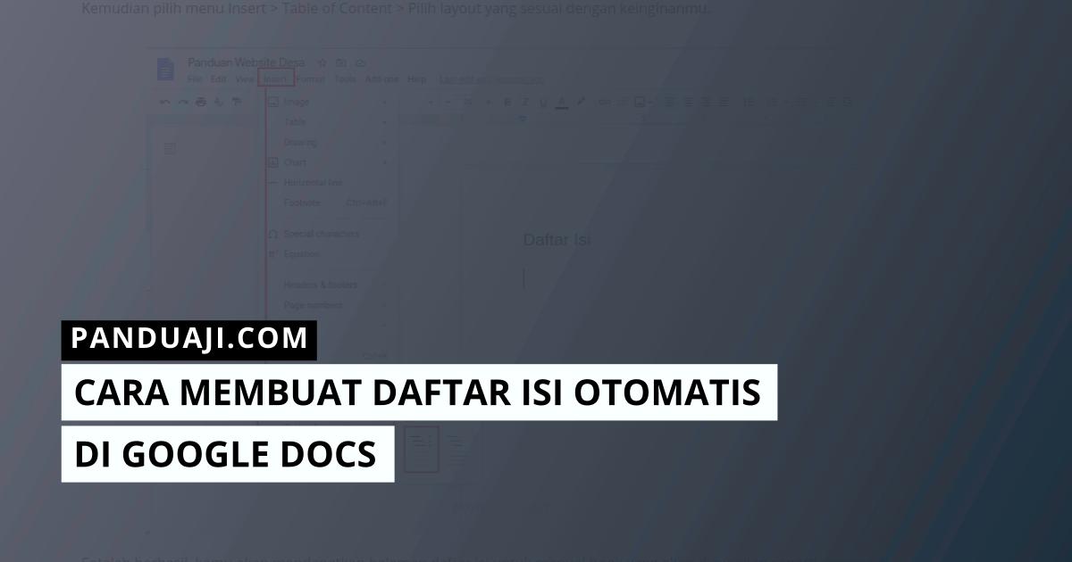 Membuat Daftar Isi Otomatis di Google Docs
