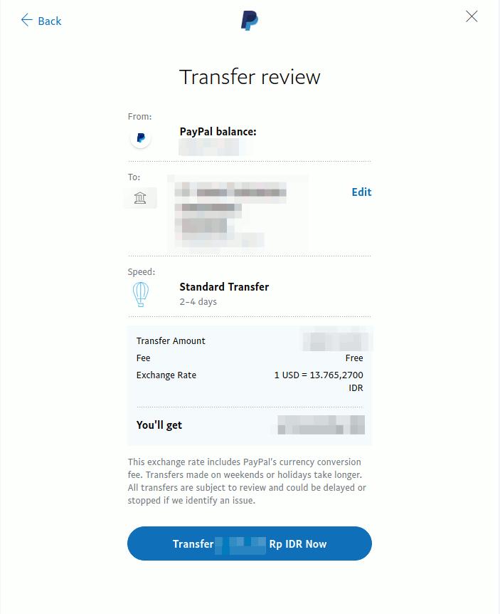 Konfirmasi Transfer Paypal