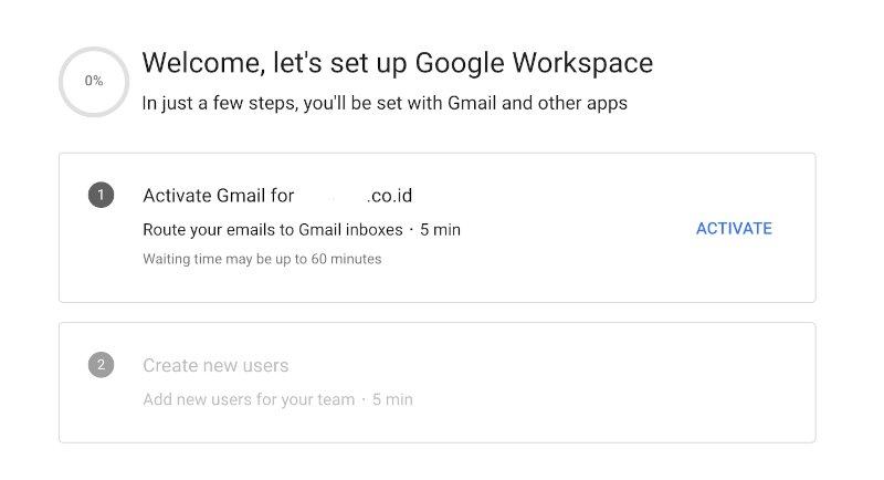 Aktivasi Google Workspace