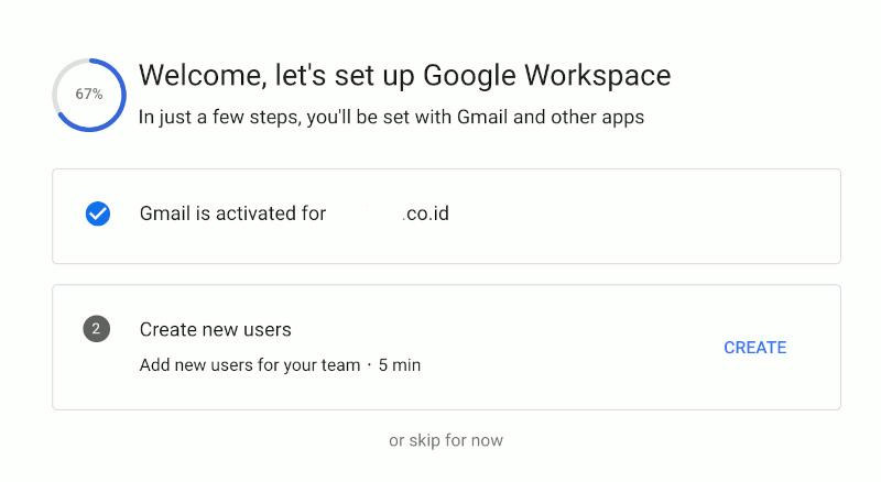 Aktivasi Mail Google Workspace