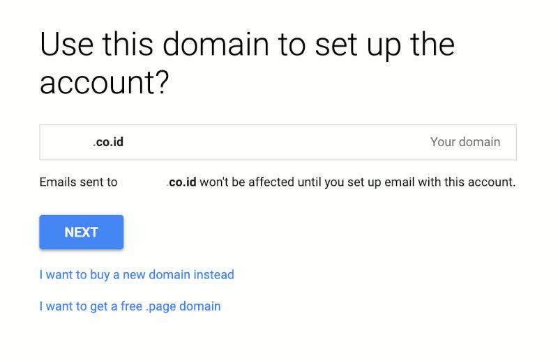 Konfirmasi Penggunaan Domain