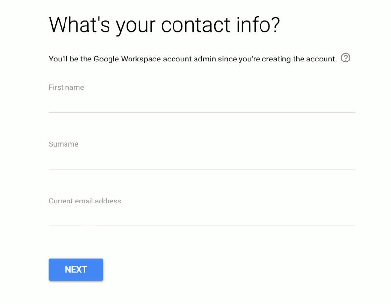 Informasi Kontak Google Workspace