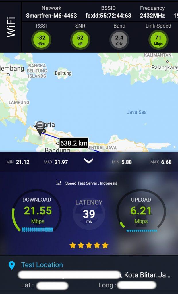 Speed Test Smartfren di Kota Blitar