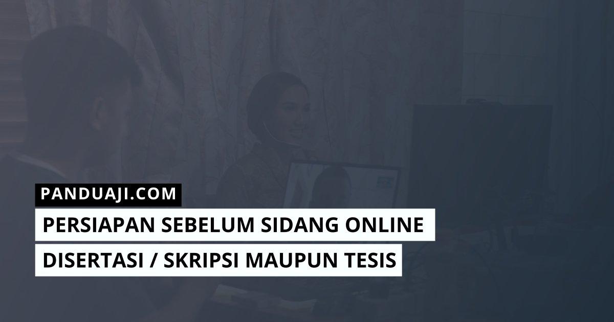 Persiapan Sidang Online